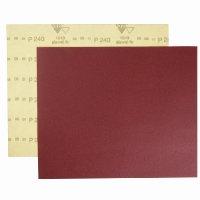 Шлифшкурка на бумаге Р 220, 230*280мм, водостойкая, красная (SIA Abrasives)
