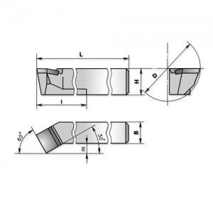 Різець розточний для наскрізних отворів 32х25х280 Т15К6 (ЧІЗ) 2140-0059