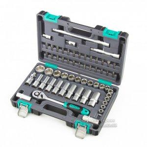 Набор инструментов 1/2, CrV, пластиковый кейс, 60 предметов (STELS, 14103)