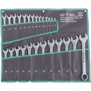 Набор ключей комбинированных 26 шт. 6-32 мм, CrV, матовый хром (STELS, 15431)