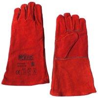 Перчатки замшевые краги, красного цвета р.11 (Werk, WE2128)