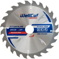 Пильный диск WellCut Standard 205x30мм 24Т (WS24205)