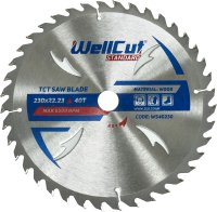 Пильный диск WellCut Standard 230x22мм 40Т (WS40230)