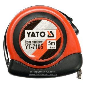 Рулетка 5 м х 19мм, магнітний накінечник, нейлонове покриття (YATO, YT-7105)