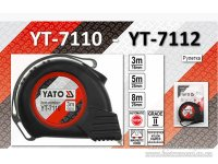 Рулетка 5 м х 25мм, магнитный наконечник, нейлоновое покрытие (YATO, YT-7111)