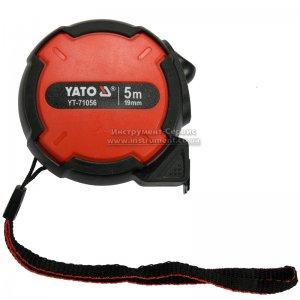 Рулетка 5 м х 19мм, стальная лента, нейлоновые покрытия (YATO, YT-71056)