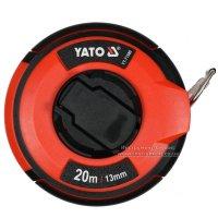 Рулетка стальная с нейлоновым покрытием 20 м х 13 мм (YATO, YT-71580)
