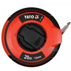 Рулетка сталева з нейлоновим покриттям 20 м х 13 мм (YATO, YT-71580)