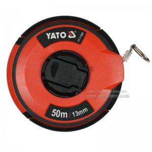 Рулетка стальная с нейлоновым покрытием 50 м х 13 мм (YATO, YT-71582)