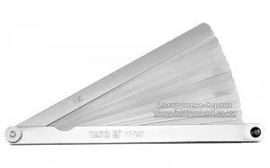 Набір щупів вимірювальних 200 х 12,8 мм, 17 пелюстків, h=0,02-1 мм (YATO, YT-7221)