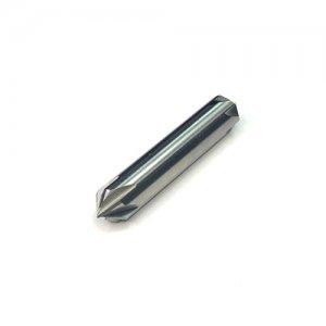 Зенковка твердосплавна монолітна 10,0 мм, двостороння, L=45 мм, кут 90° z=6 К30